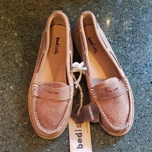 NWT Bed Stu distressed look tobacco penny loafers